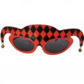 1 Adet Kırmızı Siyah Gözlük, Çılgın Doğum Günü Parti Gözlüğü