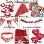 Kırmızı Kına Gecesi Malzemeleri Seti Kına Paketi Standart-6
