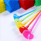 50 Adet Pembe Uzun Folyo Balon Çubuğu