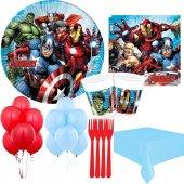 24 Kişilik Yenilmezler Parti Malzemeleri Avengers Tabak Bardak Vb