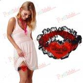 Kırmızı Sabahlık Bekarlığa Veda Bacak Bandı Aksesuarı Bride To Be