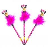8 Adet Minnie Mouse Tüylü Kurşun Kalem Doğum Günü Hediyelikleri