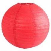 Kırmızı Kağıt Japon Feneri Dekorasyon Süslemesi, 30x30 Cm Küçük