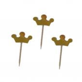 20 Adet Gold Altın Rengi Parti Sunum Kurdanı Cupcake Süsler-3