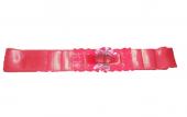 Kalpli Çiçekli Kırmızı Kına Gelin Kuşağı Kemeri Bel Kurdelesi-3
