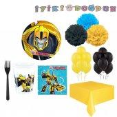 8 Kişilik Transformers Konsepti Doğum Günü Malzemeleri Bumblebee