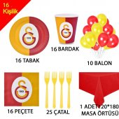 16 Kişilik Galatasaray Doğum Günü Konsepti Parti Malzemeleri Seti