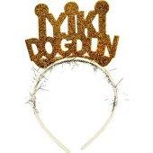 1 Adet Gold Simli İyi Ki Doğdun Taç, Taşlı Doğum Günü Taçları
