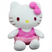 Peluş Hello Kitty Elbiseli Kurdeleli 70Cm-3