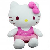 Peluş Hello Kitty Elbiseli Kurdeleli 70Cm-5
