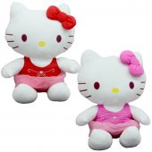 Peluş Hello Kitty Elbiseli Kurdeleli 36Cm-2