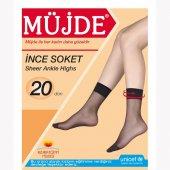 12li Paket Müjde İnce Tül 20 Den Diz Altı Soket Çorap