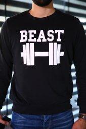 Sevgili Kombinleri Beast - Beauty Sweatshirt Siyah-3