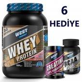 West Nutrition Kreatin (Creatine) + Whey Protein Tozu + Amino Asit Bcaa 5 Hediyeli