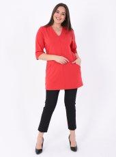 Büyük Beden Timelees Bluz Kırmızı