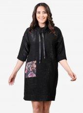 Büyük Beden V&P 005 Elbise Siyah