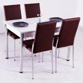 Masa Sandalye Takımı Yemek Masaları 4 Sandalye + Masa-5