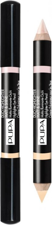 Pupa Duo Highlighter Matt Shine Eye Pencil Beige