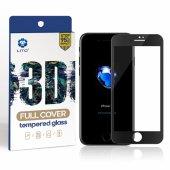 Lito Apple iPhone 7 Plus / 8 Plus 3d Cam Ekran Koruyucu Siyah-4