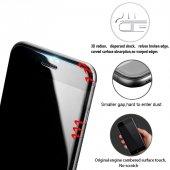 Lito Apple iPhone 7 Plus / 8 Plus 3d Cam Ekran Koruyucu Siyah-10