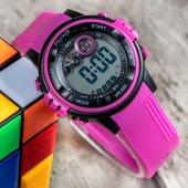 Yeni Sezon Fuşya Renk 30m Su Geçirmez Dijital Çocuk Kol Saati St 303367