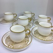 Winterbach Gold İşlemeli Porselen 6lı Türk Kahve Fincan Seti 113