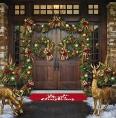 Rugrita Merry Christmas Kaydırmaz Taban Halı...