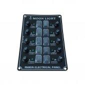 Moon Light Md 4012 W 12li Dikey Switch Panel...