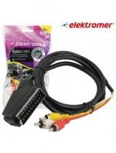 Scart To 3 Rca Kablo Elektromer 1 Mt