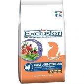 Exclusion Tavuk Etli Light Kısırlaştırılmış Kedi M...