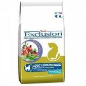 Exclusion Light Sterilised Somonlu ve Tavuklu Diyet Kısırlaştırılmış Kedi Maması 2 Kg
