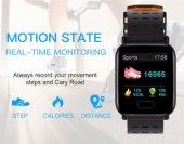 Olix A6 Sport Smart Watch Akıllı Saat Su Geçirmez, Tansiyon ve Nabız Ölçer, Uyku Takip-6