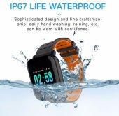 Olix A6 Sport Smart Watch Akıllı Saat Su Geçirmez, Tansiyon ve Nabız Ölçer, Uyku Takip-7