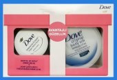 Dove Body Silk Orginal 300 Ml + 30 Ml Intensive Tbox Kutu