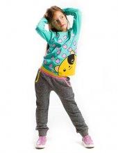 Denokids Sevgili Ayı  Kız Çocuk Sweat-Pantolon Takım