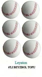 Leyaton Beyzbol Topu 6lı Deri El Dikişli