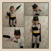 Batman Kostümü Pelerinli Komple Tulum+maske
