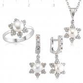 Inci Bayan Pirmoda Gümüş Set