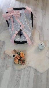Bebe Puset Minderi Ve Örtüsü İkili Set Pom003