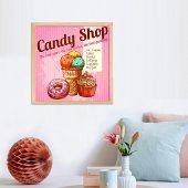 Candy Shop Çerçeveli Tablo