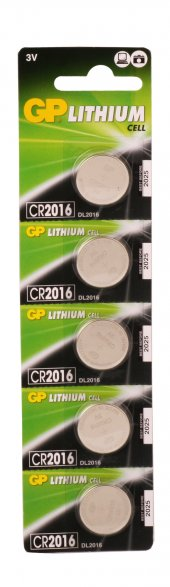 Gp Cr2016 C5 3v Lityum Düğme Pil 5li Paket