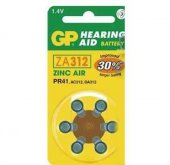 Gp Za312 1.4v Düğme Kulaklık Pili 6lı Paket