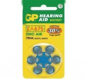 Gp Za675 1.4v Düğme Kulaklık Pili 6lı Paket