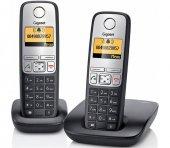 Gigaset A415 Duo 2 Li Siyah Telsiz Dect Telefon 100 Rehber Handsfree Işıklı Ekran