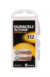 Duracell 312 Düğme Kulaklık Pili İşitme Cihazı İçin 6lı Paket