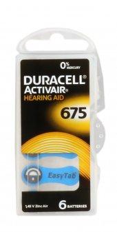 Duracell 675 Düğme Kulaklık Pili İşitme Cihazı İçin 6lı Paket