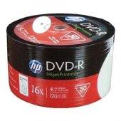 Hp DVD-R 4,7gb-120min 16x 50 li Shrink