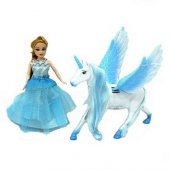 Mavi Peri Masalı Bebek Ve Kanatlı At Pegasus