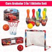 Cars 3 İn 1 Eğitici Aktivite Seti CARS 3 Küçük Boy Basketbol Seti Futbol Seti Bowling Seti Spor Oyun