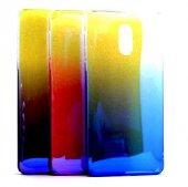 Nokia 3 Kılıf Renk Geçişli Arka Kapak + Kırılmaz Ekran Koruyucu Temperli Cam